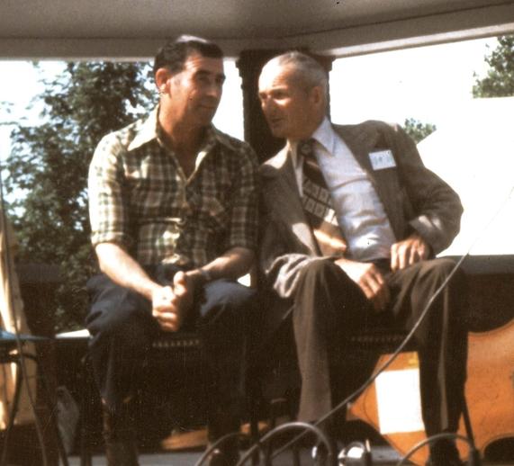 Gerald Campbell and Jack Mooney performing at the 1977 Folk Festival in St John's, Newfoundland / Aidan O'Hara