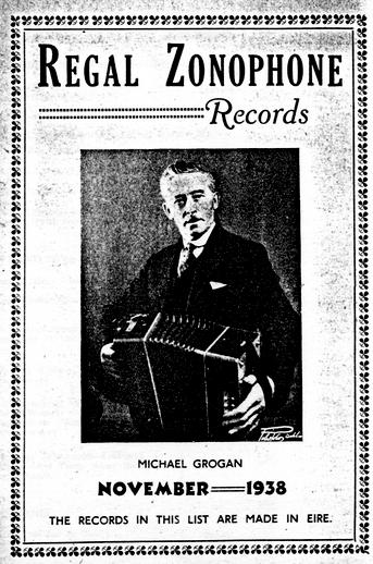 Michael Grogan, accordion / Regal Zonophone