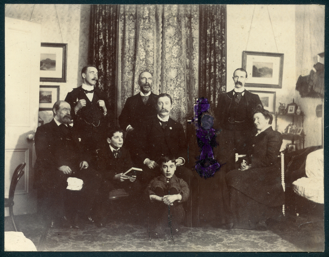 PW Joyce with members of his family, Christmas 1900 / [unidentified photographer]