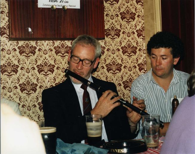 Patsy Hanly, flute, & Antaine Ó Faracháin, 1991 / Luke Cheevers