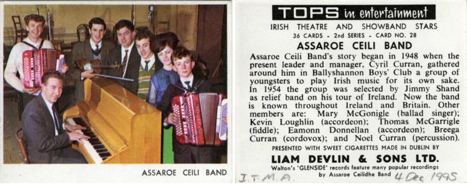 Assaroe Ceili Band, group, 1967 / unidentified photographer