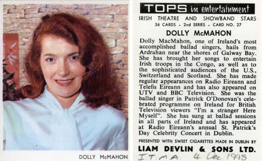Dolly McMahon, singer, 1967 / unidentified photographer