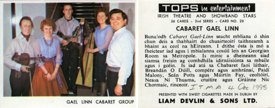 Cabaret Gael Linn, group, 1967 / unidentified photographer