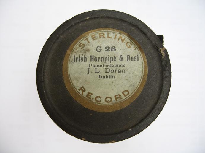 Sterling cylinder lid. Irish hornpipe & reel : J. K. Doran / Henri Chamoux