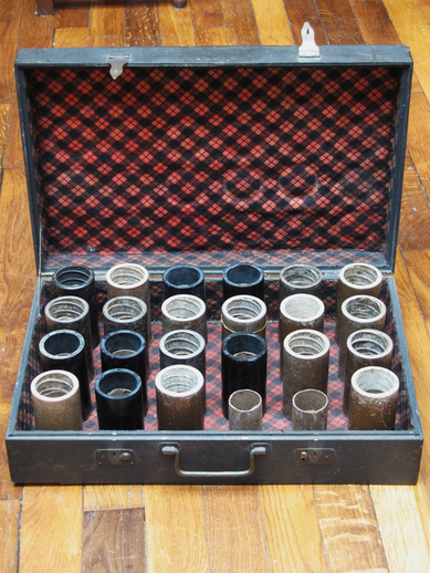 Suitcase containing 22 cylinder sound recordings / Henri Chamoux