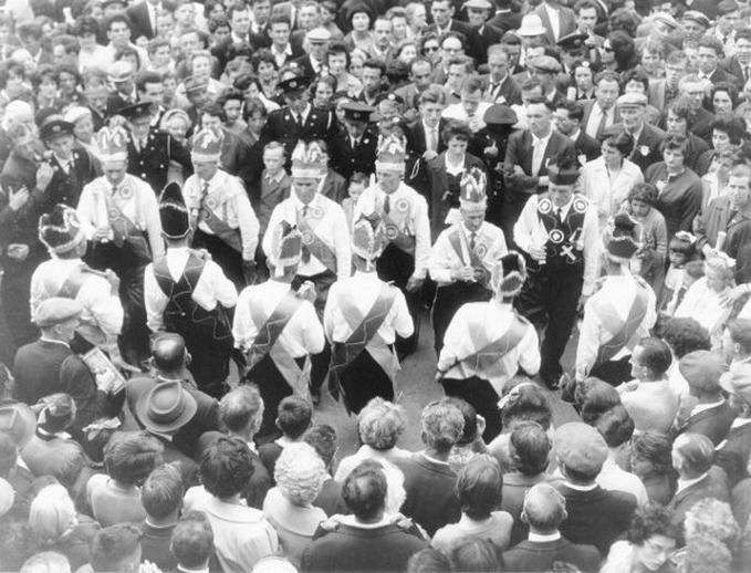 Mummers at the Fleadh Cheoil, Gorey, 1962 / Bord Fáilte