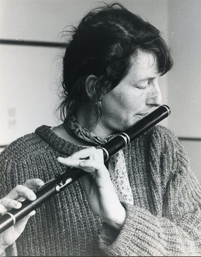 Unidentified woman, flute / Liam McNulty