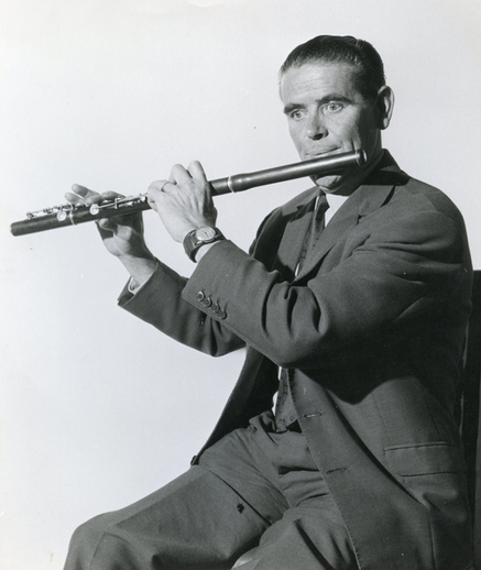 Paddy Taylor, flute / [unidentified photographer]