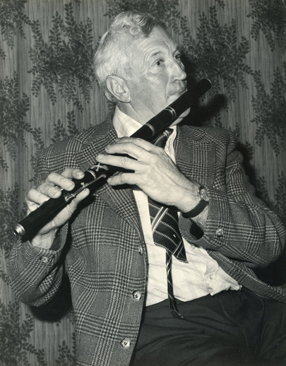 Frank Jordan, flute / [unidentified photographer]