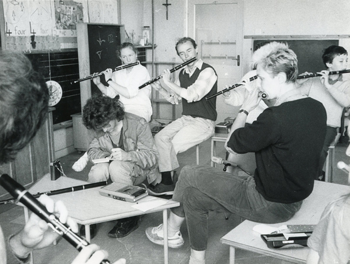 Unidentified members of a flute class / Liam McNulty