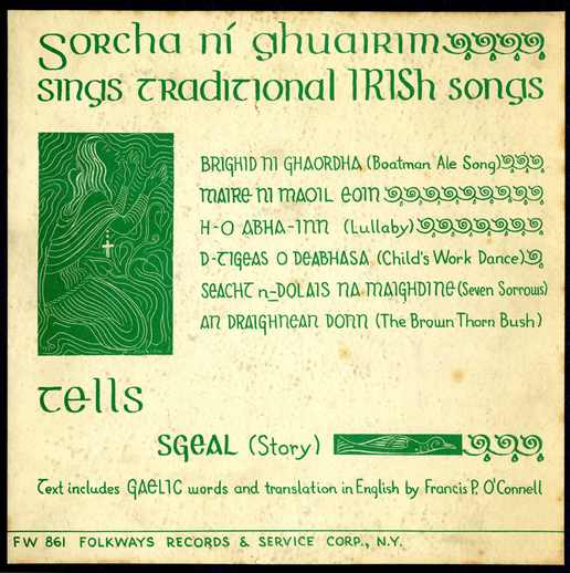 Sorcha Ní Ghuairim, 1957 / designer unidentified