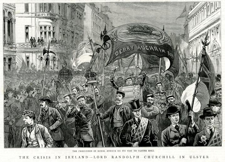 The crisis in Ireland, 1886 / [unidentified artist]