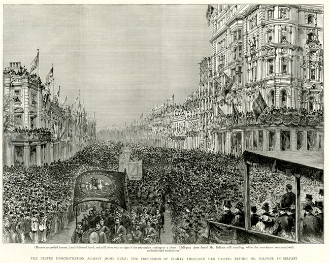 The Ulster demonstration against Home Rule, 1893 / [unidentified artist]