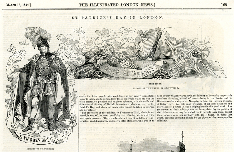St. Patrick's day in London, 1844 / [unidentified artist]