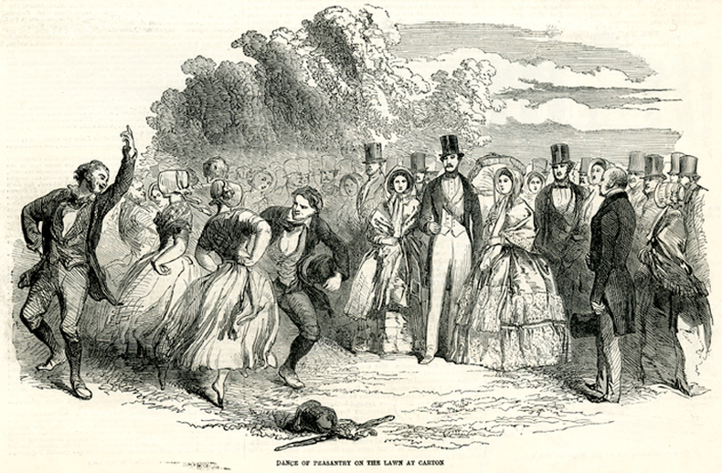 Dance of peasantry on the lawn at Carton,1849 / [unidentified artist]