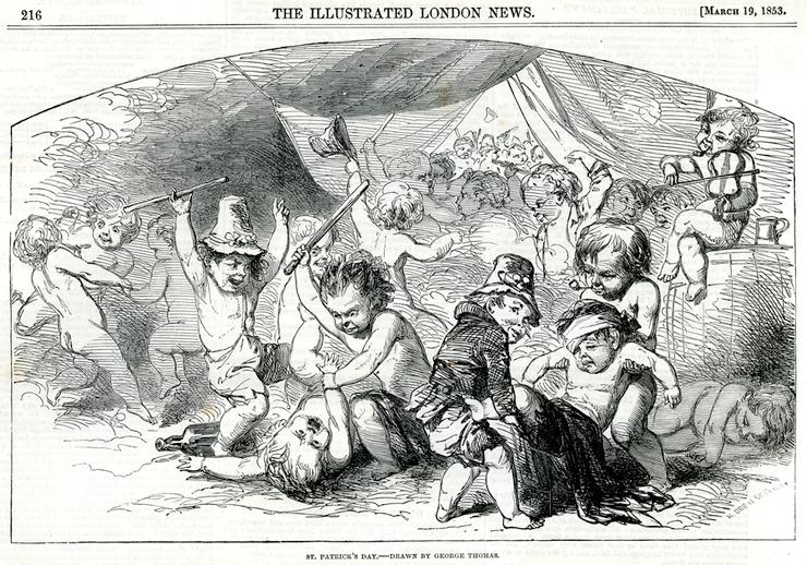 St. Patrick's Day, 1853 / George Thomas