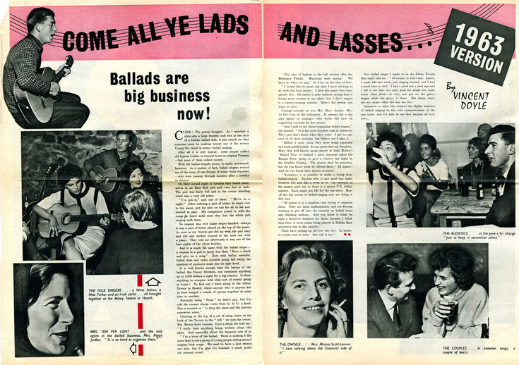 Come all ye lads and lasses, article / Vincent Doyle