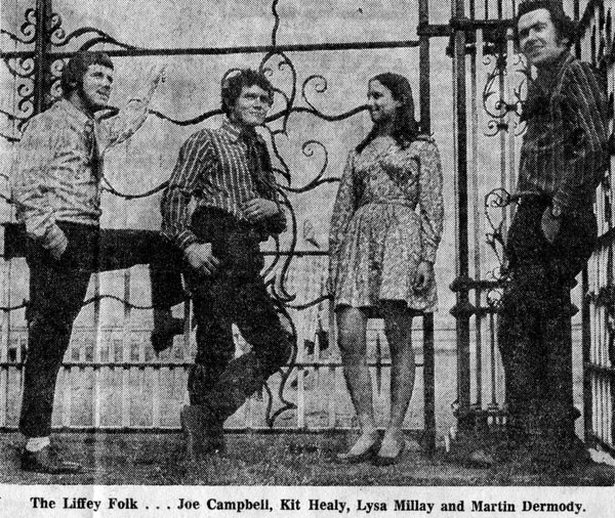 The Liffey Folk, group, 1969 / Evening Press photographer