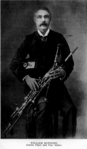 William Rowsome, uilleann pipes / unidentified photographer