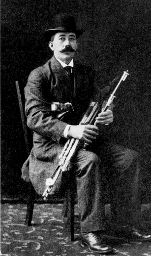 Bernard Delaney, uilleann pipes / unidentified photographer
