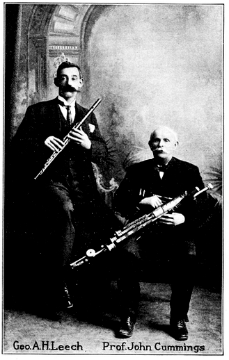 George A.H. Leech, flute, & others / unidentified photographer