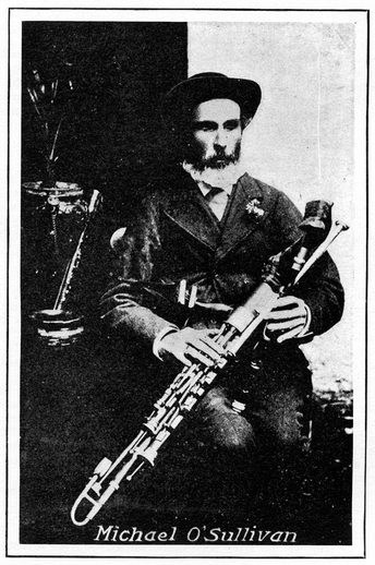 Michael O'Sullivan, uilleann pipes / unidentified photographer
