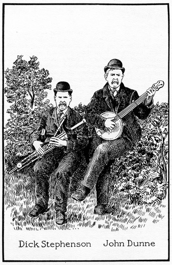 Dick Stephenson, uilleann pipes, & others / unidentified artist