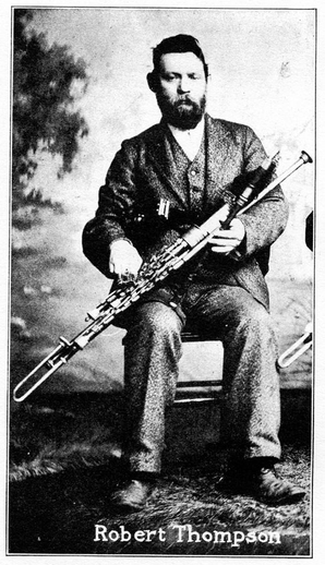 Robert Thompson, uilleann pipes / unidentified photographer