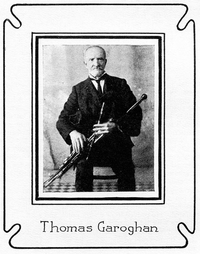 Thomas Garoghan, uilleann pipes / unidentified photographer