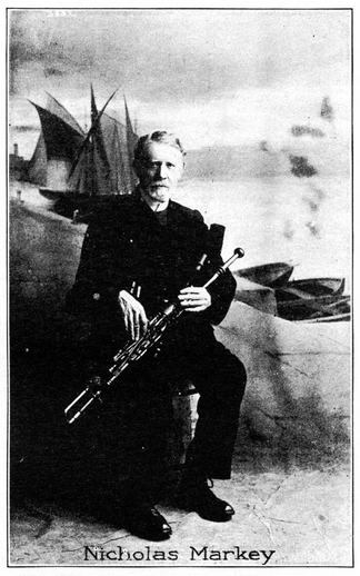 Nicholas Markey, uilleann pipes / unidentified photographer