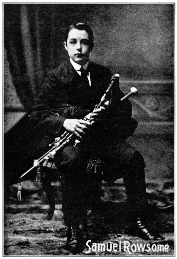 Samuel Rowsome, uilleann pipes / unidentified photographer
