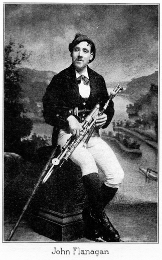 John Flanagan, uilleann pipes / unidentified photographer