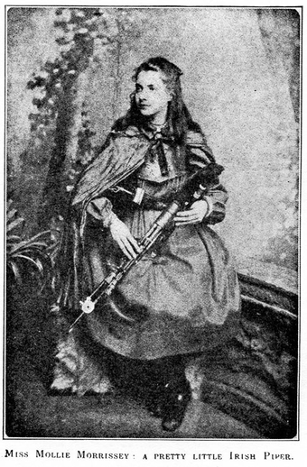 Mollie Morrissey, uilleann pipes / unidentified photographer