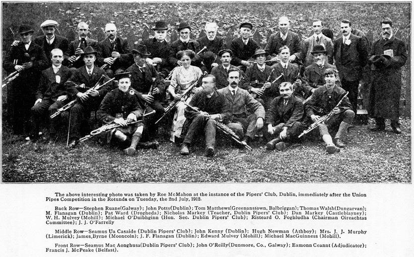 The Piper's Club, Dublin, 1912, uilleann pipes / Roe McMahon