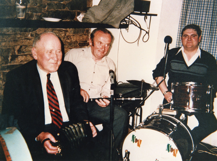 Marty Purcell, concertina, Dickie Linnane, flute and Dessie Lillis, drums / [unidentified photographer]