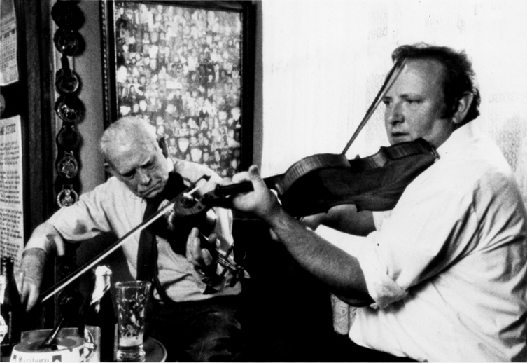 James Byrne and Con Cassidy, fiddles / [unidentified photographer]