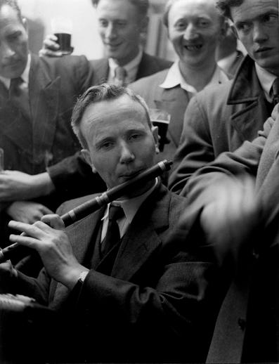 Eddie Moloney, flute, at Fleadh Cheoil, Dungarvan, 1957 / Bord Fáilte