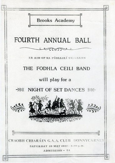 Brooks Academy Fourth Annual Ball, event poster, 1987