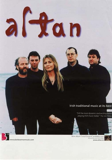 Altan, group, CD promotional poster