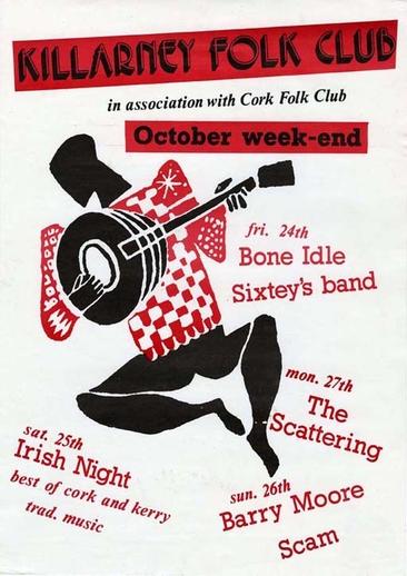 Killarney Folk Club, event poster