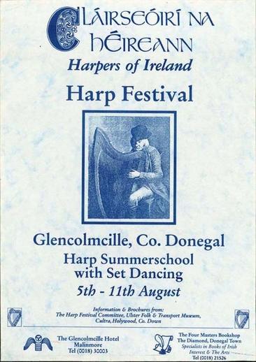 Cláirseóirí na hÉireann, event poster