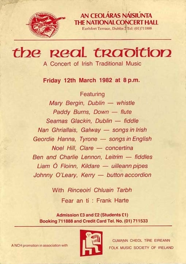The Real Tradition, 1982, event poster