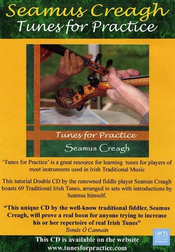 Seamus Creagh, fiddle, CD promotional poster