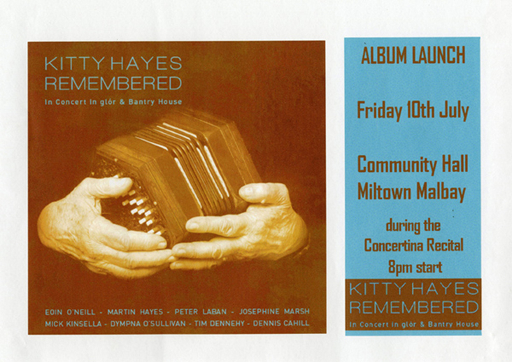 Kitty Hayes remembered, CD promotional poster