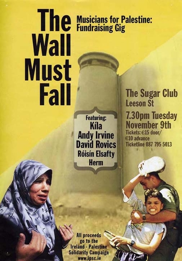 The wall must fall, event poster