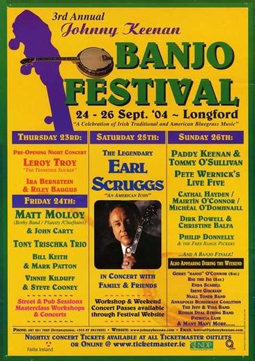Johnny Keenan Banjo Festival, 2004, event poster