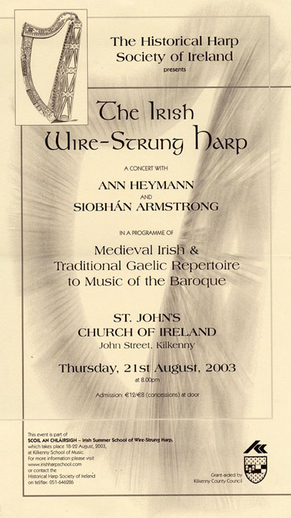 The Irish wire-strung harp, 2003, event poster