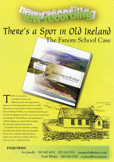 There's a spot in old Ireland, CD promotional poster