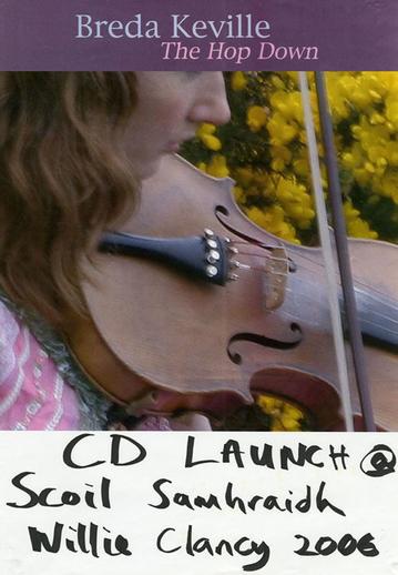 Breda Keville, fiddle, 2006, CD promotional poster