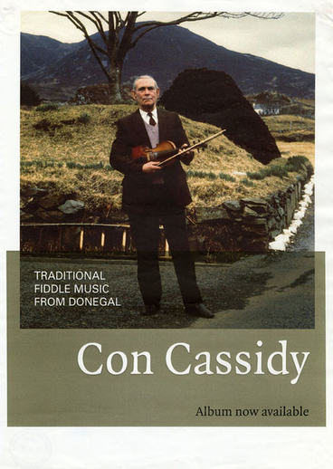 Con Cassidy, fiddle, CD promotional poster